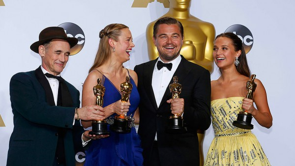 Кадр с церемонии вручения премии Оскар 2016