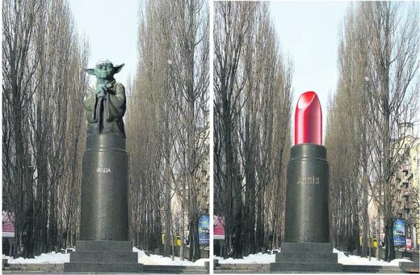 В конце позапрошлого года ироничные фотожабы на тему памятника Ленина заполнили интернет.