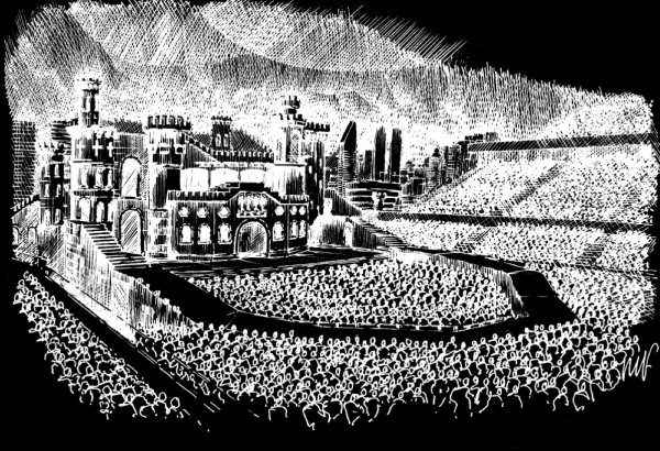Сцена мирового турне The Born This Way Ball 2012-2013