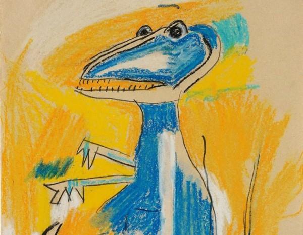 Жан-Мишель Баския Динозавр (фрагмент). Продан за  £242,500