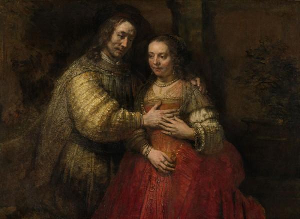 Рембрант Еврейская невеста (около 1662 г).