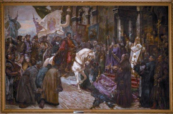Николай Ивасюк. Въезд Богдана Хмельницкого в Киев. 1912
