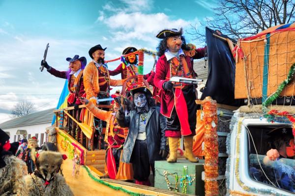 Так Маланку ежегодно отмечают в городе Вашкивцы (Буковина).
