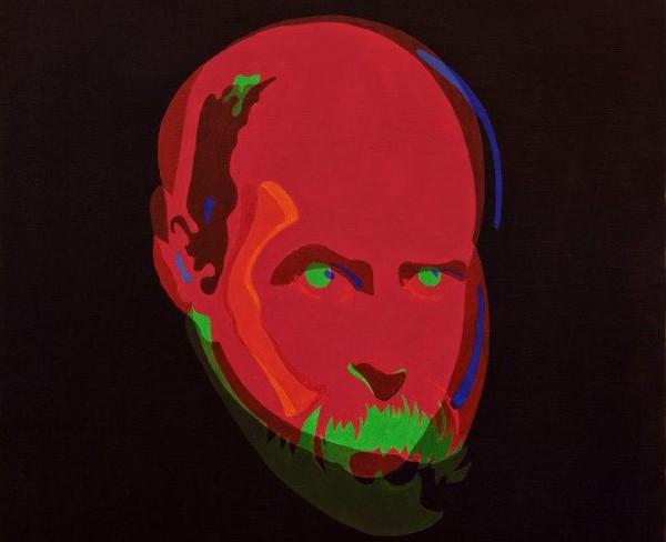 Портрет Тараса Шевченко в исполнении Антонио Шевченко (фрагмент) Холст, акрил, 2013 г.