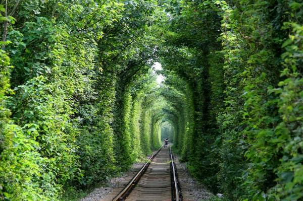 Протяженность Тоннеля любви - 4 км.