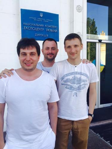 Макс Яковенко, Максим Бахматов и Александр Акименко