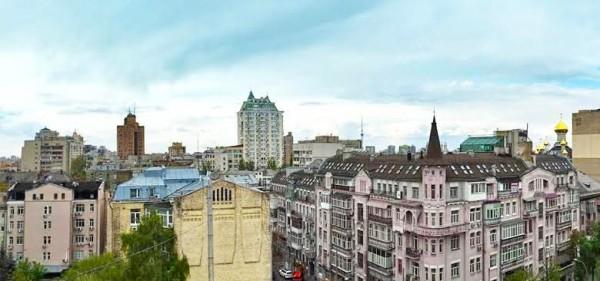 Панорамный вид на Киев с крыши Roof