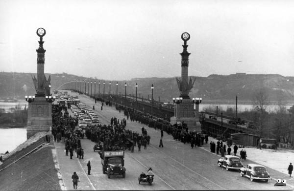 Открытие моста Патона 5 ноября 1953 г.