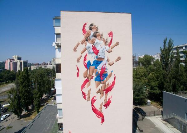 Новый мурал на улице Большая Васильковская в Киеве