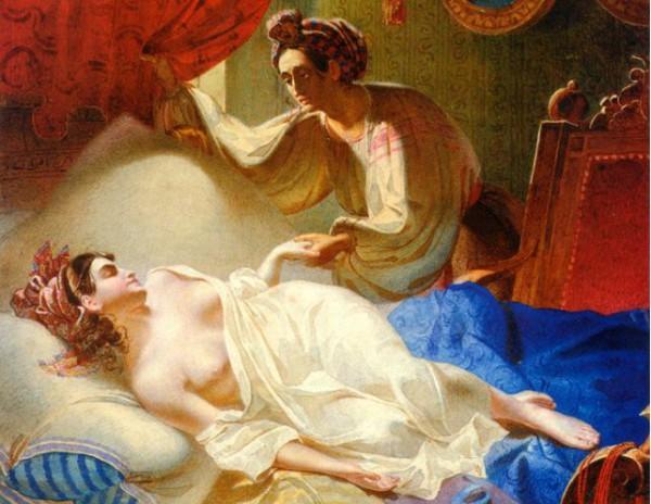 Фрагмент картины Шевченко - Мария (1840)