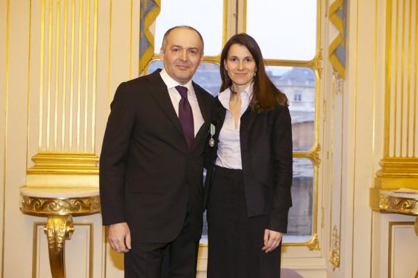 Министр культуры и коммуникации Франции Орели Филиппетти и Виктор Пинчук. Фото предоставлено Фондом Пинчука
