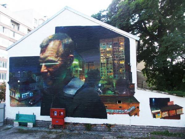 Новый мурал на улице Гончара в Киеве