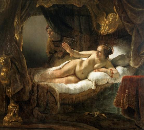 Даная (1636-1647). Была написана по мотивам древнегреческого мифа о Данае, матери Персея.