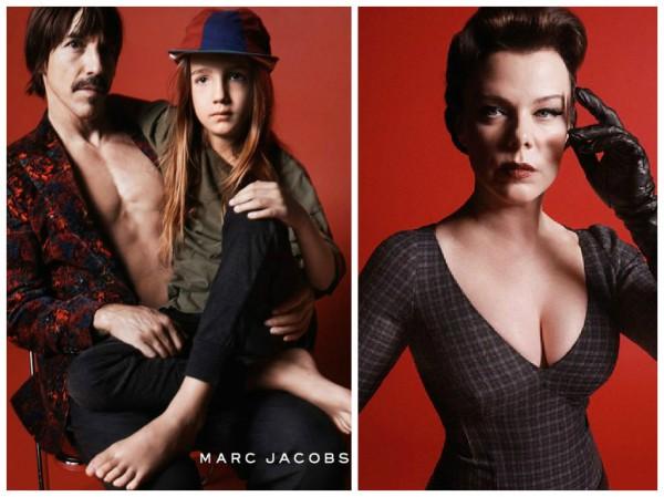 Энтони Кидис с сыном и актриса Деби Мейзар присоединились к рекламе коллекции Марка Джейкобса в стиле
