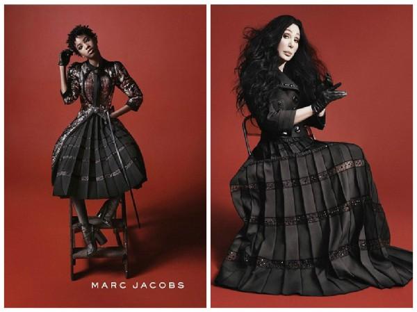 Марк Джейкобс решил совместить два полюса, взяв в рекламную компанию девушку и женщину разного возраста и цвета кожи