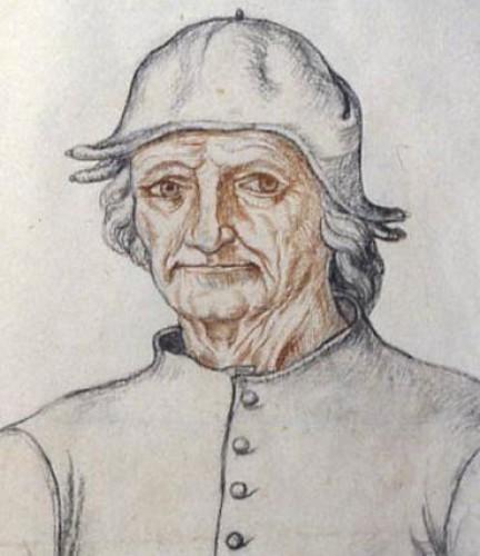 Портрет Босха. Карандаш