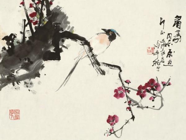 Среди украденных картин - работы художника Ци Бай Ши