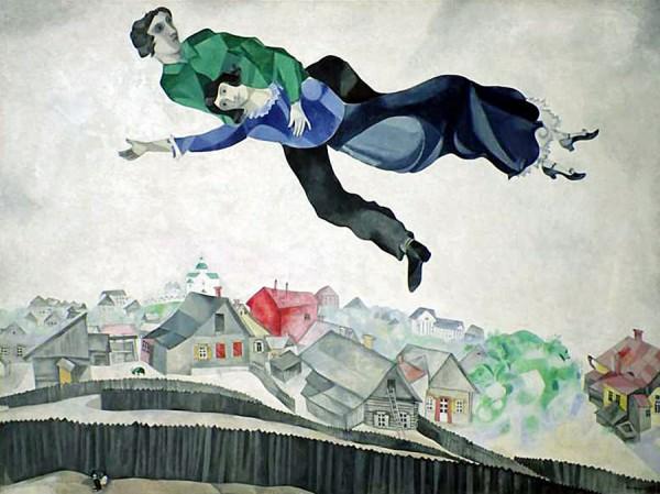 Марк Шагал, Влюбленные над городом