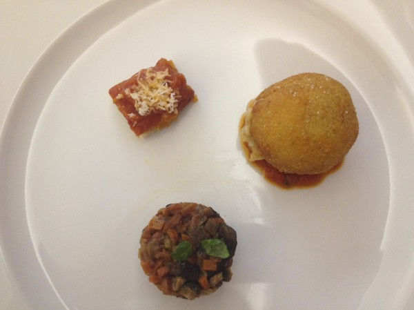 Итальянские закуски в ресторане La Forchetta
