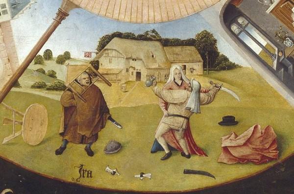 Фрагмент картины Семь смертных грехов Иеронима Босха