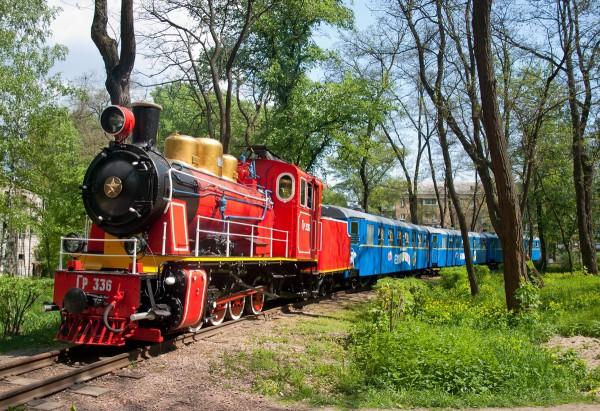 Детская железная дорога в Киеве работает с мая по август