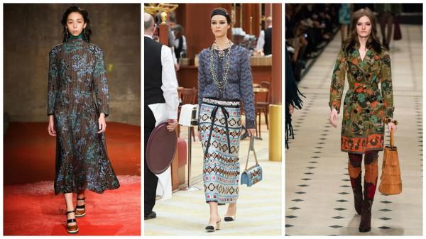 Слева направо: Marni, Chanel, Burberry Prorsum