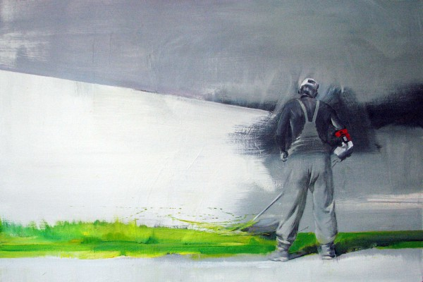 Газонокосильщик (2012 г.) Холст, масло