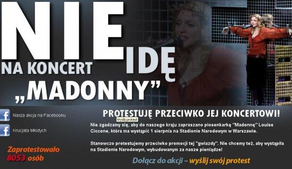 Поляки призывают своих соотечественников бойкотировать концерт Мадонны