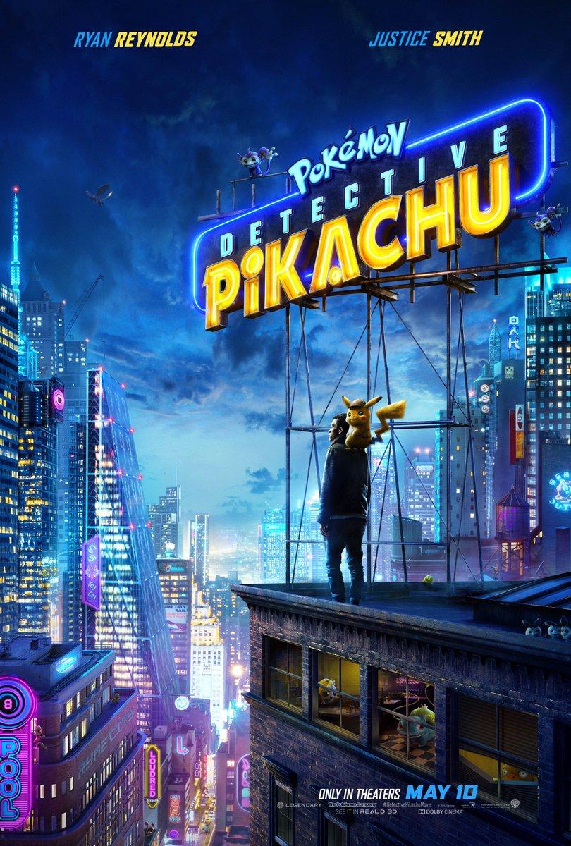 Официальный постер Детектива Пикачу