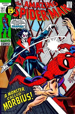 Морбиус на страницах комиксов о Человеке-пауке