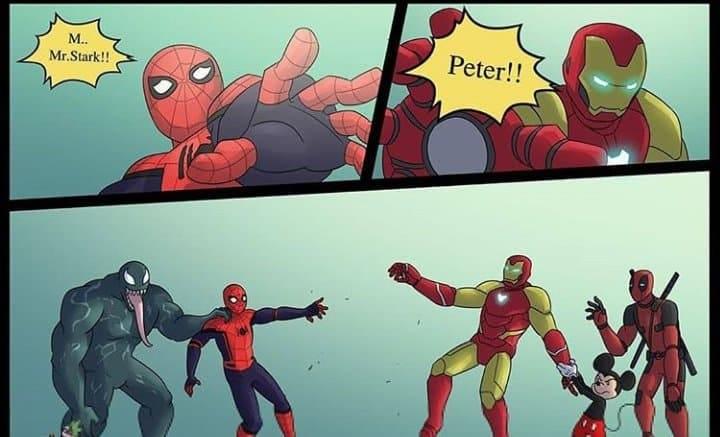 Мем про Человека-Паука