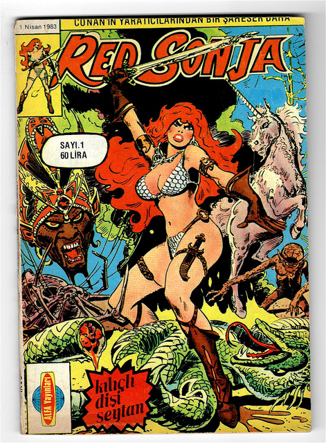 Обложка комикса Рыжая Соня