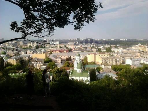 Вид с Замковой горы на Подол