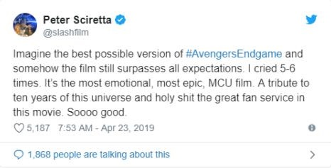 Отзыв о четвертых Мстителях