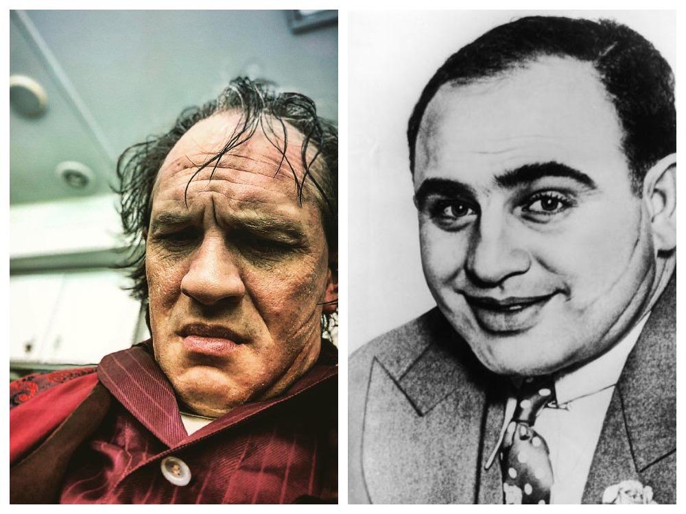 Том Харди и портрет Аль Капоне