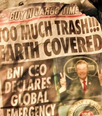 Газета в мульфильме