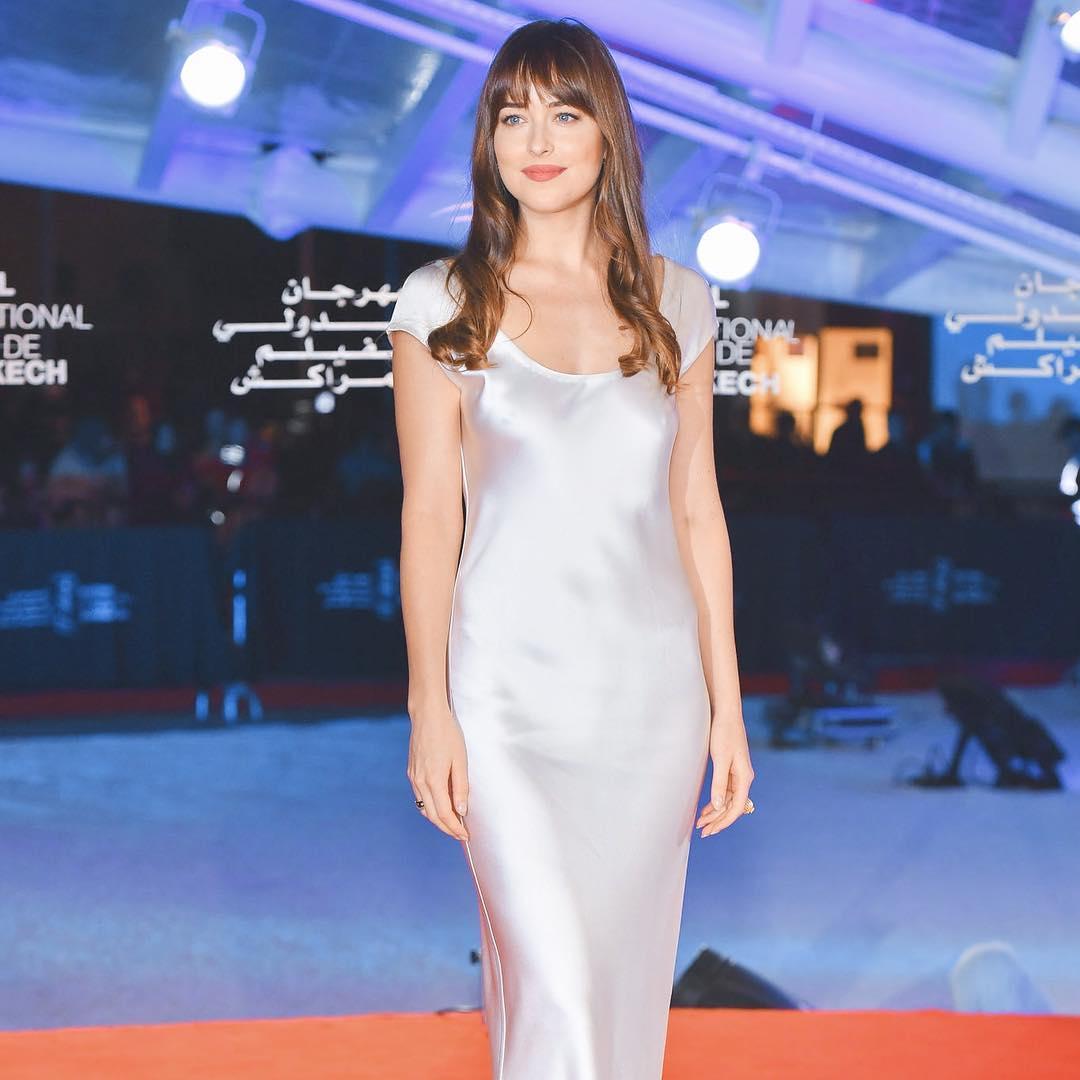 Актриса Дакота Джонсон в платье украинского дизайнера
