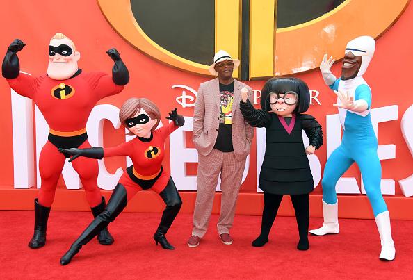 Сэмюэл Л. Джексон, озвучивший персонажа, на премьере мультфильма