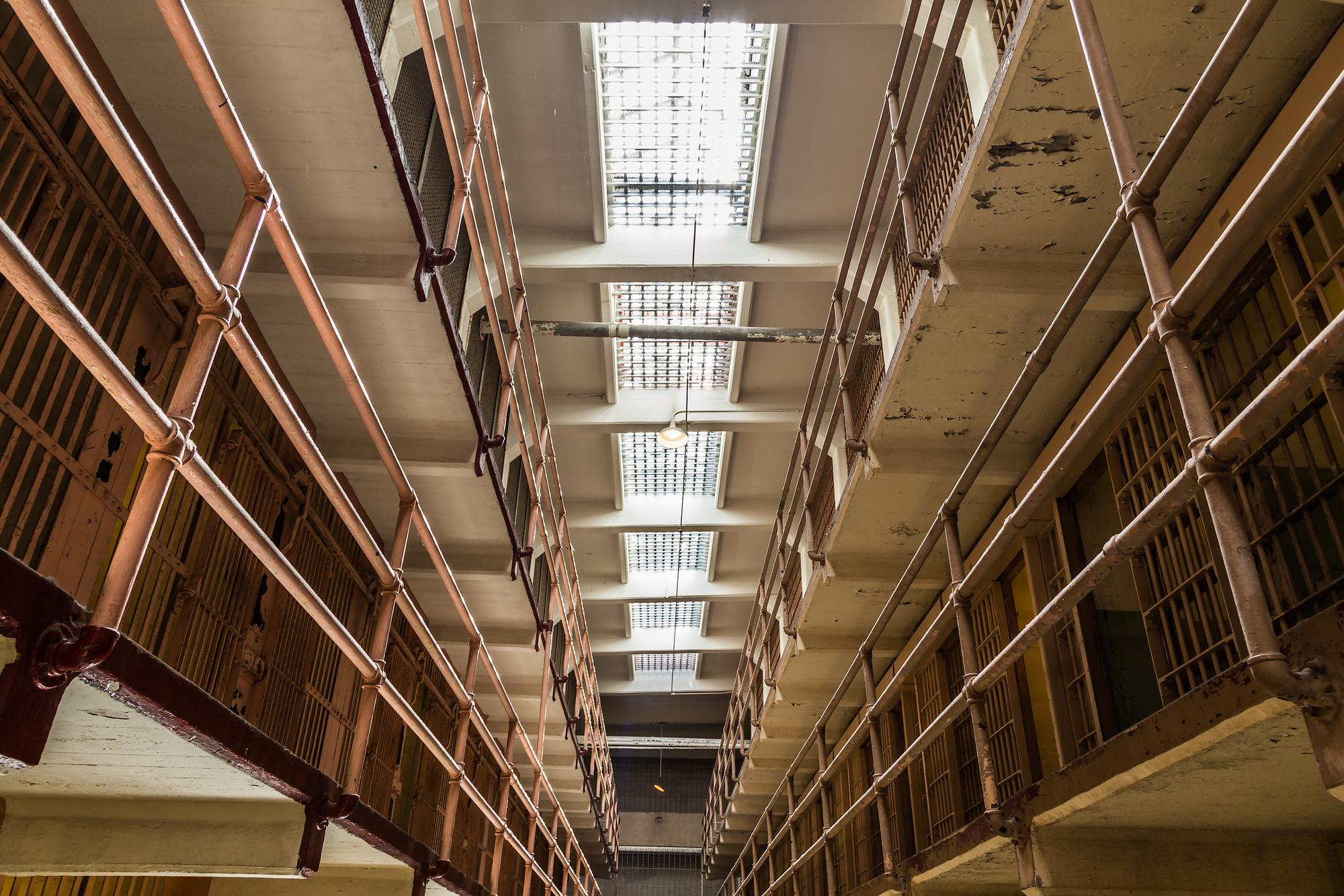 Внутри бывшей тюрьмы Алькатрас