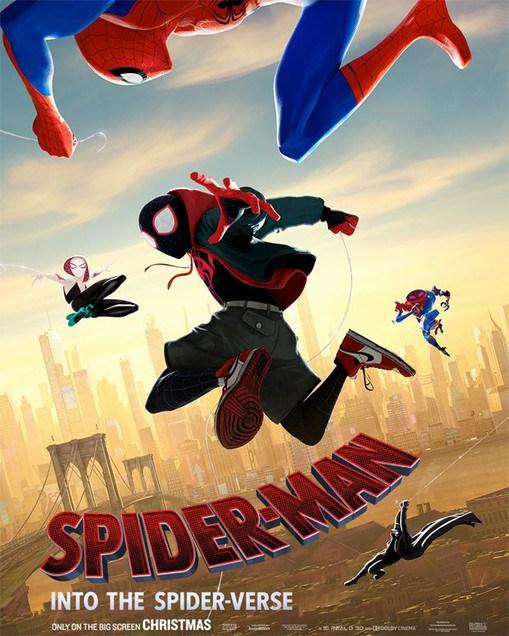 Официальный постер Человек-Паук: Через вселенные