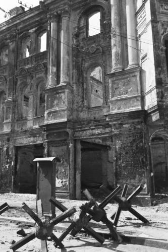 Здание на углу Крещатика и Городецкого.
