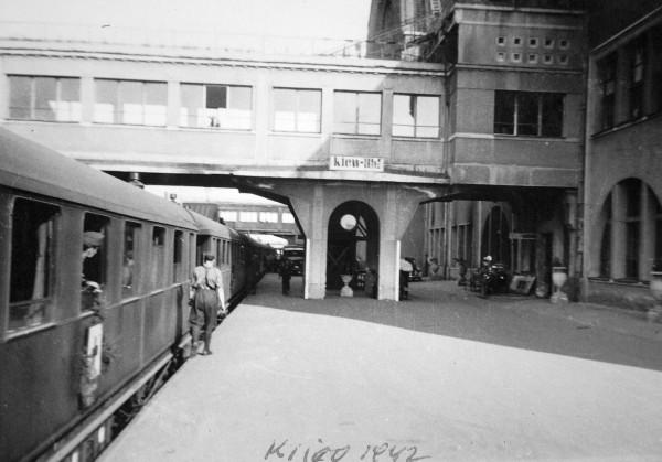 Венгерский санитарный поезд на главном перроне киевского вокзала.