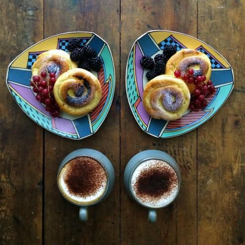 Музейный сотрудник Майк готовит потрясающие симметричные завтраки