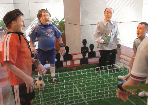 Игроки. Композиция из кукол в киевском офисе Геннадия Боголюбова