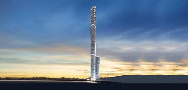 Количество этажей в здании достигнет 117-ти