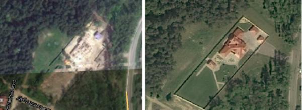 Вид на особняк со спутника
