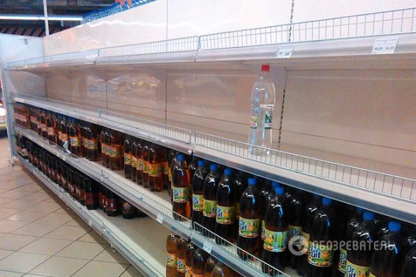 После обеда в супермаркетах можно застать пустые полки