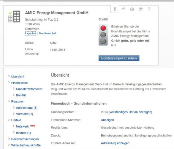 Информация о AMIC Energy Management GmbH