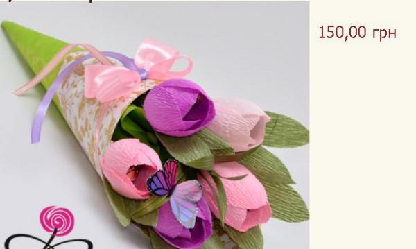 Идея подарка на 8 марта: букет из конфет