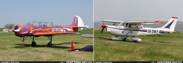 Выставленный на продажу Як-52 Балицкого и переоформлен на отца Cessna С-172